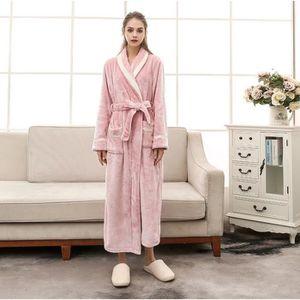 PEIGNOIR 1PCS Peignoir Femme Long Confortable    Rose