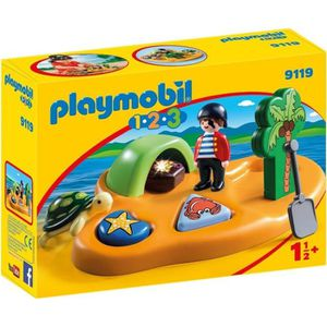 UNIVERS MINIATURE PLAYMOBIL 1.2.3 - 9119 - Île de Pirate