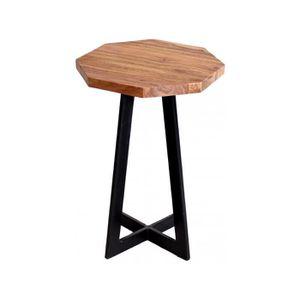 TABLE D'APPOINT Table d'appoint coloris marron et noir design indu