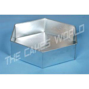 MOULE  EURO TINS moule a gâteau de Hexagonal 30 cm