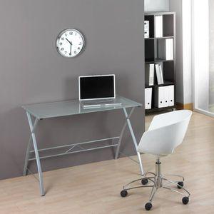 b904da3d64ebb Table de bureau en verre pour ordinateur - Achat   Vente pas cher