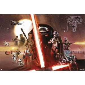 AFFICHE - POSTER Poster Star Wars todos los personajes