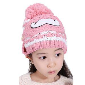 ECHARPE - FOULARD Belle barbe enfants filles hiver chaud bonnet tric ... 5709e83f973
