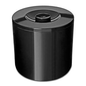 MONTRE Sceau à Glace Isolant Rond Noir 4 L - A, Plastique