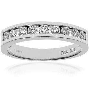 BAGUE - ANNEAU REVONI Bague Femme  - Alliance Diamant - Or blanc