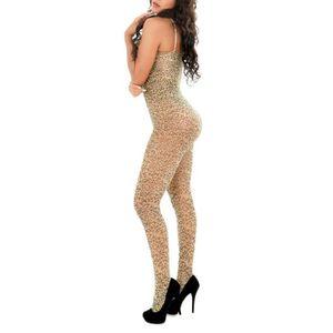 CHEMISE DE NUIT SEXY Bas Leopard femmes Jumpsuit 627495b2550
