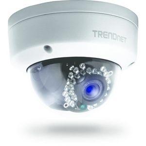 SERRURE - BARILLET Trendnet TV-IP321PI, Extérieur, Dôme, Noir, Blanc,