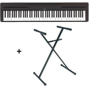 PIANO Pack Piano numérique Yamaha P45 noir + Support RTX