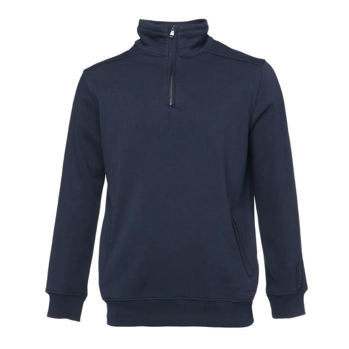 CHAMPION Sweat demi zip Homme - Bleu marine