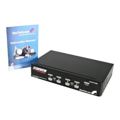 StarTech.com Commutateur KVM 4 ports VGA USB à montage en rack - Switch KVM - 1920 x 1440 (SV431USB)