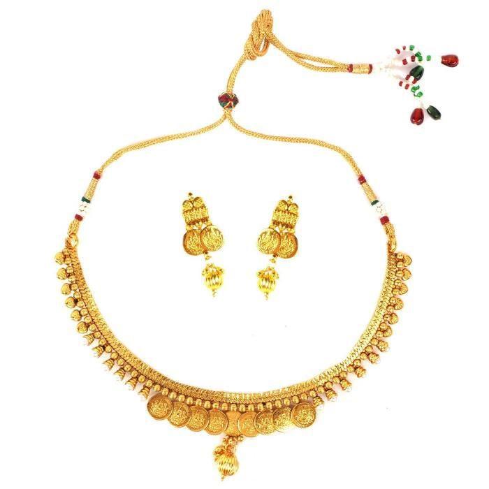 Temple des femmes Set Collier de perles blanches pourUT12H