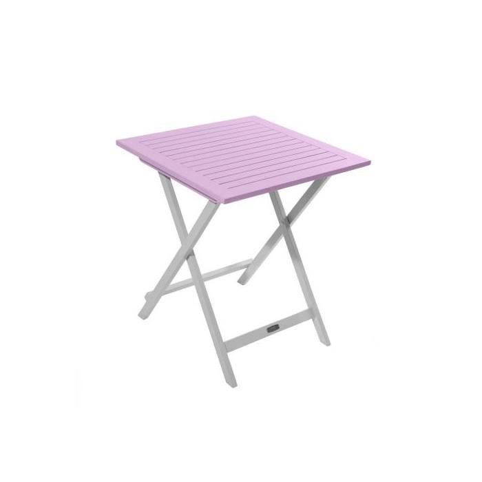 Table de Jardin Pliante en Bois 65 x 65 cm - Rose - Achat / Vente ...