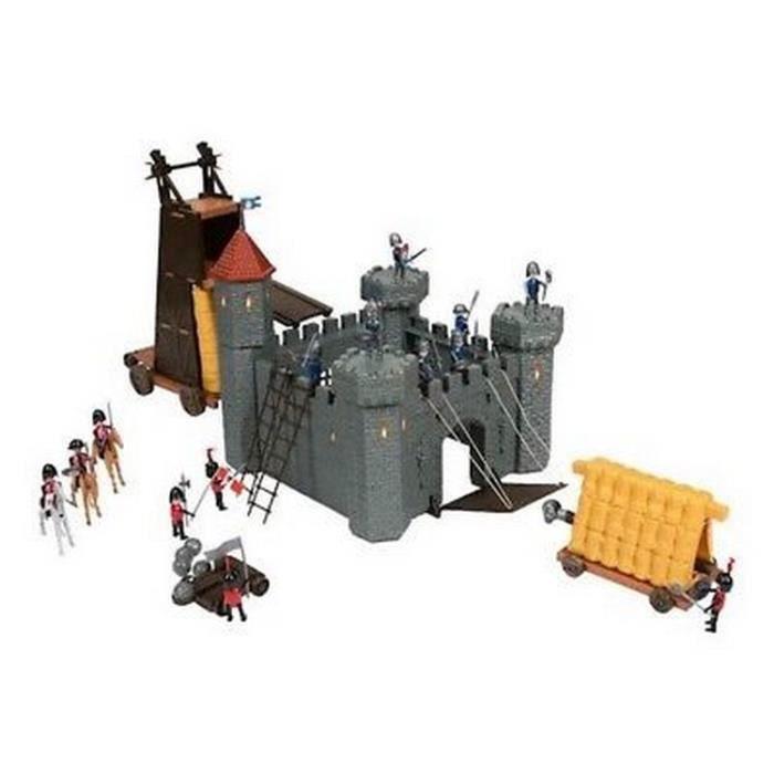 grand coffret chateau fort avec catapulte jeu jouet 115 pcs cheval soldat chevalier achat. Black Bedroom Furniture Sets. Home Design Ideas