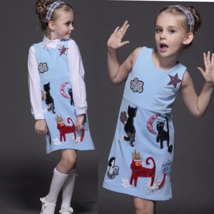 3d1fbcdcb2217 Bébé filles Robes enfants vêtements luxe marque princesse robe fille ...