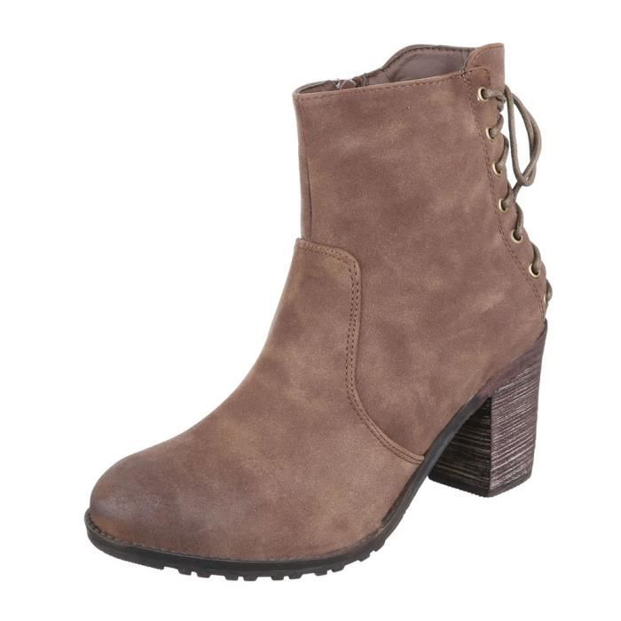 femme bottine chaussure Western Style Boots