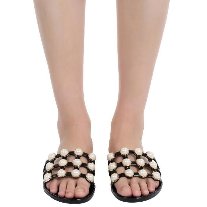 Sandale à glissière creuse