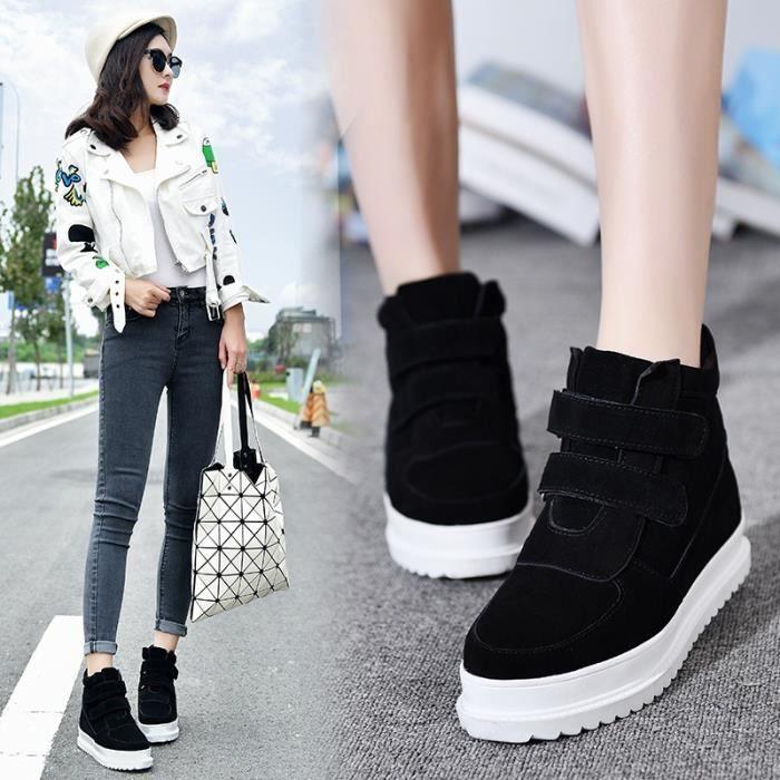 Bottes Mode Femme chaud Hauts Hauts Bottes hiver cachemire plus Chaussures Bottes fourrure (noir, gris)
