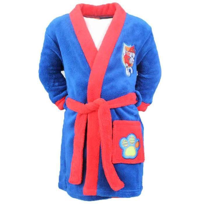 robe de chambre peignoir pour enfant pat patrouille paw patrol