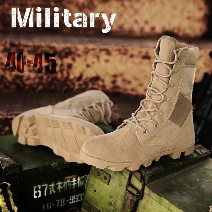Bottes pour Hommenoir 9.5 Delta tactiques militaires en cuir désert Combat extérieur Armée Voyage Botas Homme Trekking_5054