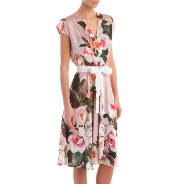 4fc0f6632215 Robe imprimée florale Rinascimento Long Couleur Taille moyenne Multicolor L