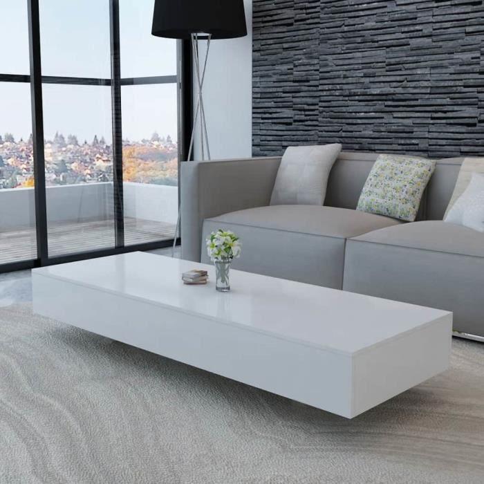 Moderne Table Basse Table De Salon Pour Maison Haute Brillance Blanc