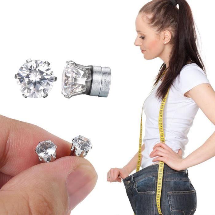 MINCEUR - CELLULITE SHOP STORY - Boucles d'Oreilles Diamant Bio Aimant