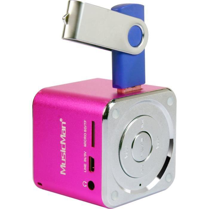 MUSICMAN MINI SOUNDSTATION Mini Enceinte Portable Avec Lecteur MP - Enceinte port usb