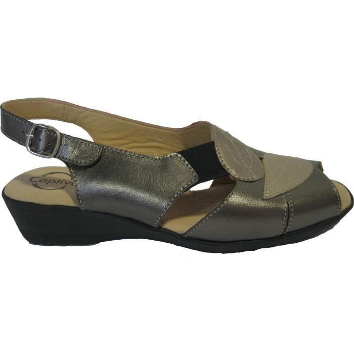 Sandales en cuir pour femmes