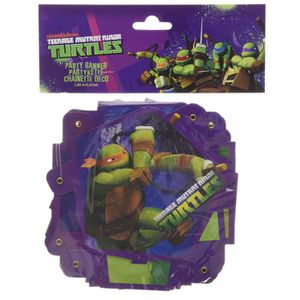 Support à décorer Amscan 552471 - Guirlande Happy Birthday Tortues N