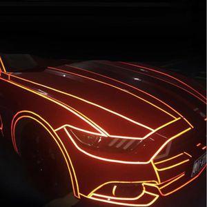 ACCESSOIRE CASQUE 1cmX5m Rouge Autocollant réfléchissant de voiture