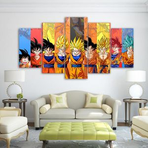 TABLEAU - TOILE 5 Pièces Dragon Ball Z Affiche Moderne Goku Modéli
