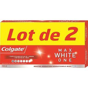 DENTIFRICE COLGATE Lot de 2 dentifrices Max White ONE - 2x75