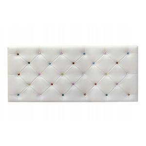 TÊTE DE LIT Tête de lit Diane 90x60cm Blanc   Strass multicolo