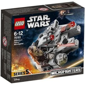 ASSEMBLAGE CONSTRUCTION LEGO® Star Wars™ 75193 Microfighter Faucon Milleni
