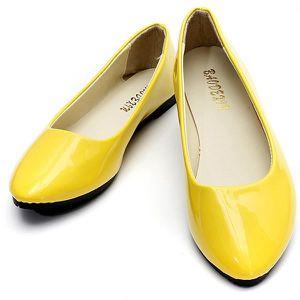 33e1cf9c103e7c Ballerines jaune femme - Achat / Vente Ballerines jaune femme pas ...