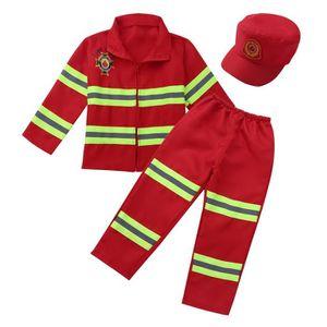 DÉGUISEMENT - PANOPLIE Déguisement Pompier Enfant Costume de Carnaval Cos
