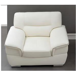 fauteuil en cuir thibault blanc Résultat Supérieur 5 Impressionnant Fauteuil En Cuir Blanc Photographie 2017 Kjs7