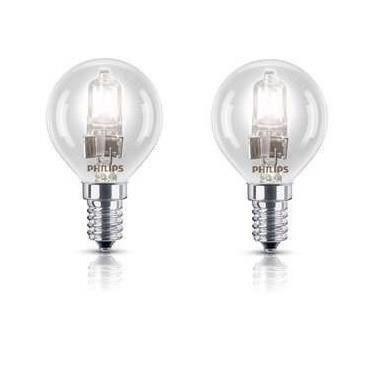 PHILIPS Sphérique Lot 2 Ampoules Halogène 28W E14