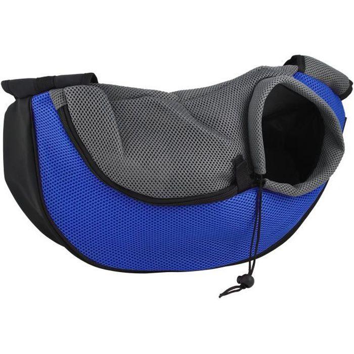 Tera® Sac De Transport Bandoulière 48x12x20cm Pour Petit Et Moyen Chien/chat (bleu)