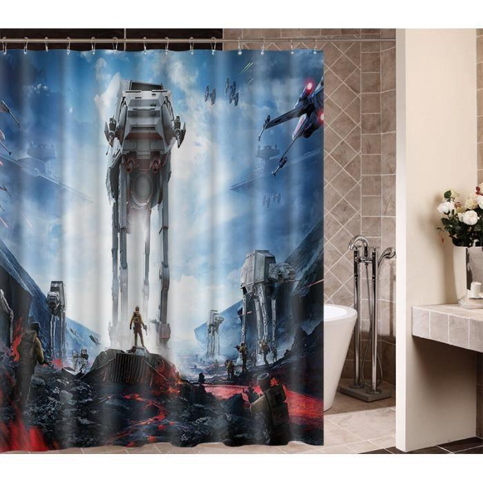rideaux de douche star wars achat vente rideaux de douche star wars pas cher soldes d s. Black Bedroom Furniture Sets. Home Design Ideas