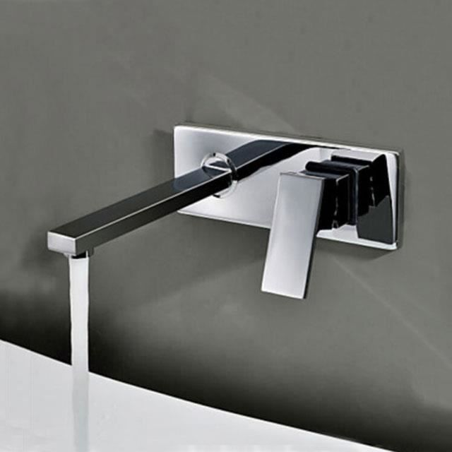 Mitigeur de lavabo mural encastré , design en laiton - Aqua