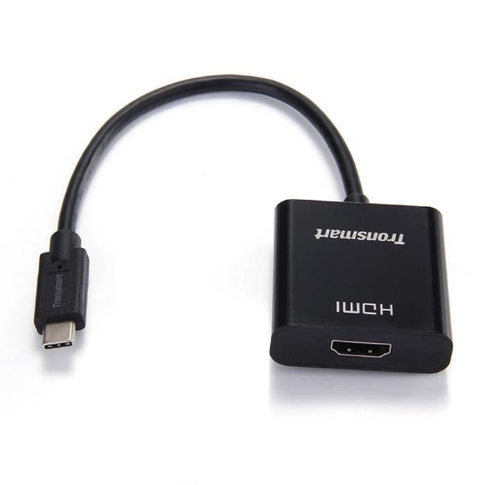 CÂBLE TÉLÉPHONE USB 3.1 de type C Pour adaptateur HDMI Soutien Rés