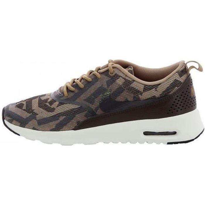 Nike Air Max Thea Jacquard - 718646-200 Marron - Chaussures Baskets basses Femme