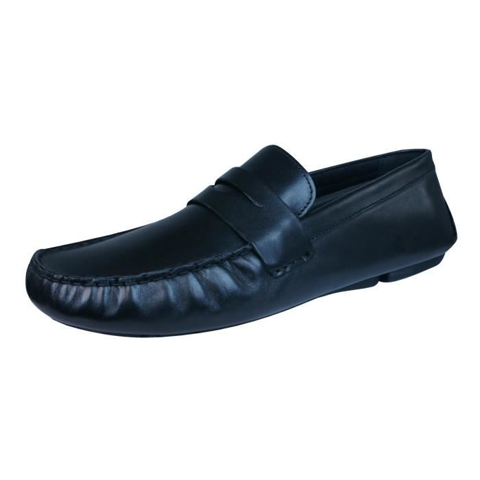 Red Tape Cranfield hommes en cuir Loafers - Chaussures Black 9