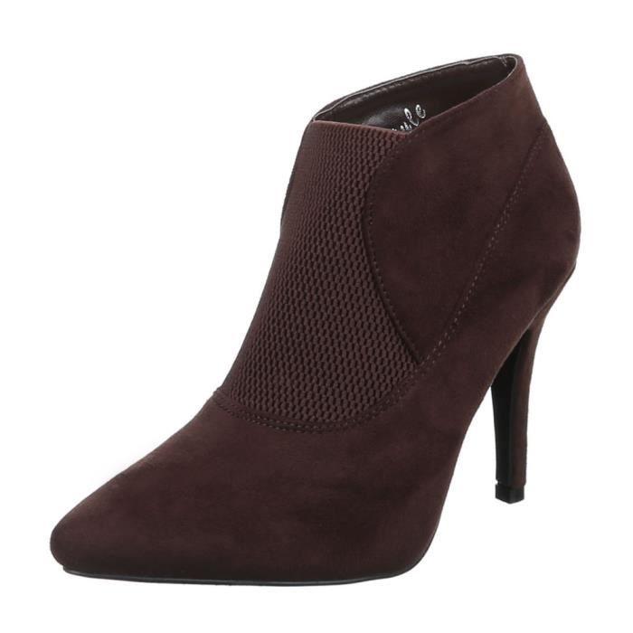 Femme chaussures bottillon Stretch High Heels bottes noir 40