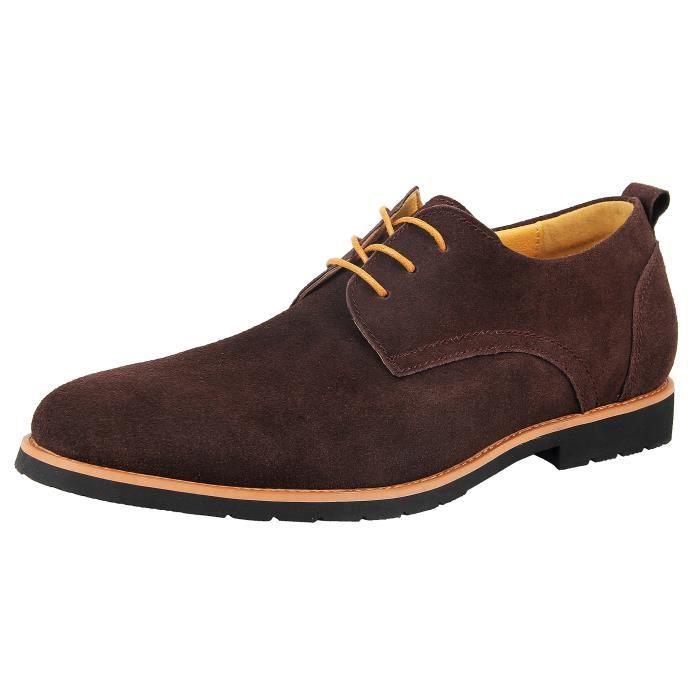 Hommes classique en cuir suédé Oxford Chaussures G2 BG6QO Taille-40 1-2