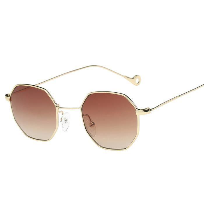 An-1103Femmes Hommes Mode Métal Irrégularité monture de lunettes de soleil de marque classiquecafe