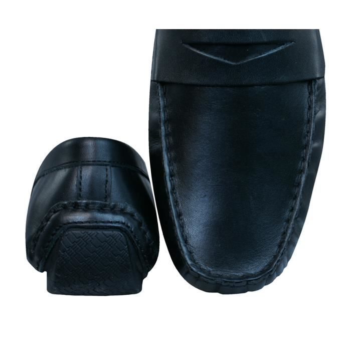 Chaussures cuir Loafers Black en Tape 9 Red Cranfield hommes Z6cqvxHP
