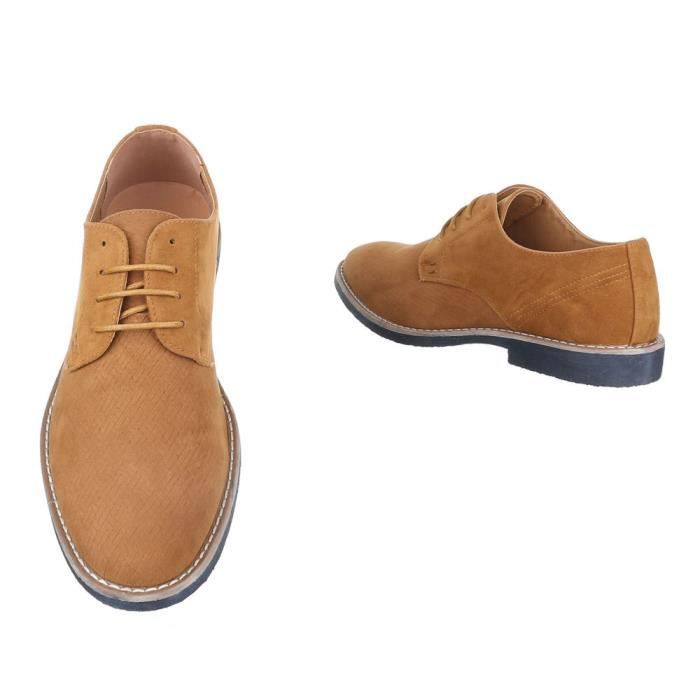 homme chaussures flâneurs lacer Slipper Bottes Camel 42 scoKyU8J