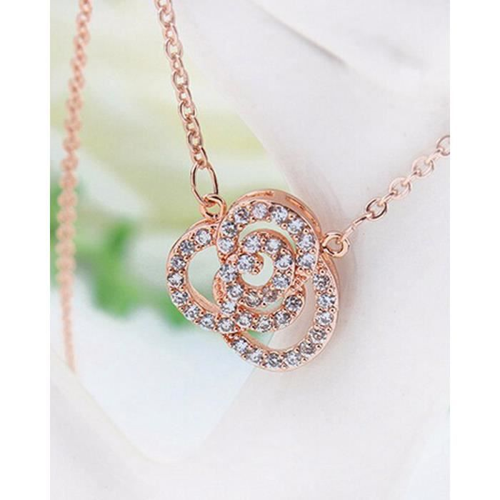 Womens Valentine Gifts Special Floral Odyssey Collection Charm Pendant Necklace For -XWCB3
